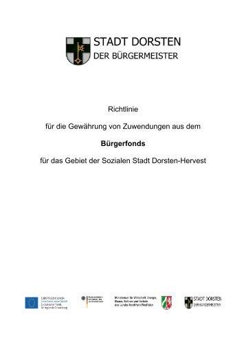 Richtlinie für die Gewährung von Zuwendungen aus dem ...