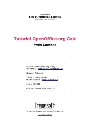 Tutorial OpenOffice.org Calc - Framasoft