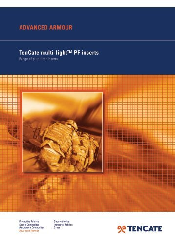 advanced armour Tencate multi-light™ PF inserts - TenCate Enbi