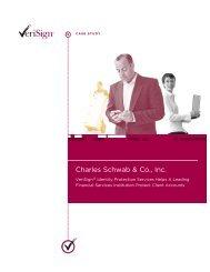VERISIGN : Charles Schwab : Case Study : High Res Vers G