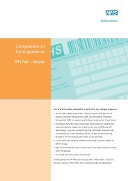 Completion of form guidance FP17W – Wales - NHS Business ...
