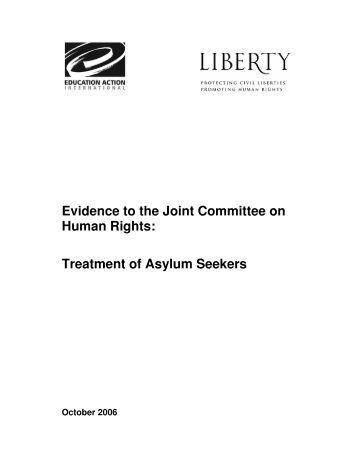 Treatment of Asylum Seekers - Liberty