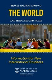 THE WORLD - Notre Dame International - University of Notre Dame