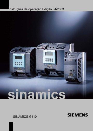 Instruções de operação Edição 04/2003 SINAMICS G110 - Industry