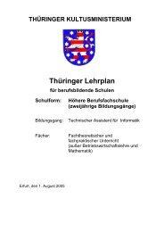 Thüringer Lehrplan - Thillm