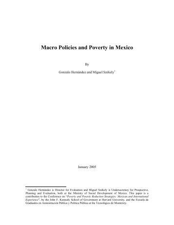 Macro Policies and Poverty in Mexico - Tecnológico de Monterrey