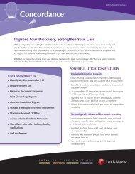 Concordance™ - Corporate Counsel - LexisNexis
