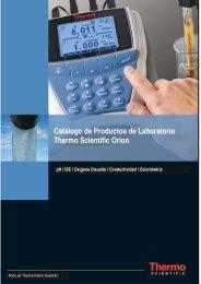Catálogo de Productos de Laboratorio Thermo Scientific Orion