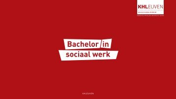 Bachelor in sociaal werk - Katholieke Hogeschool Leuven
