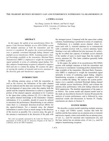 ABSTRACT In this paper, the uplink of an ... - STAR | UCSD