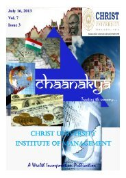 A Wealth Incorporation Publication CHRIST UNIVERSITY ...