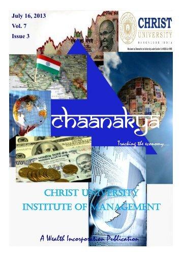 A Wealth Incorporation Publication CHRIST UNIVERSITY ...