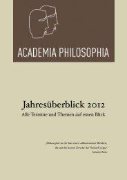 Curriculum 2012 - Academia Philosophia