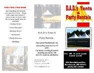 DAD's Tents & Party Rentals Brochure - TheRockfordNetwork.com ...