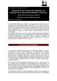 síndromes de la charnela dorsolumbar - sofmmoo