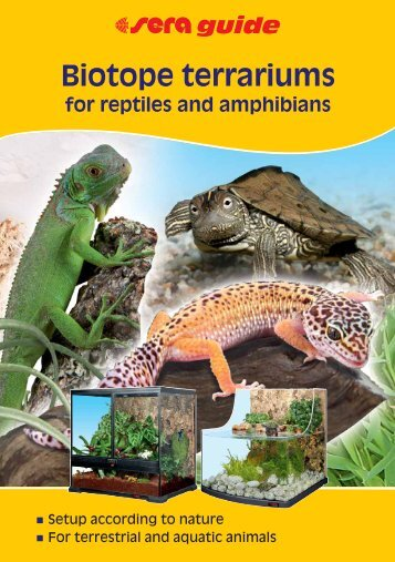 Biotope terrariums for reptiles and amphibians - sera GmbH