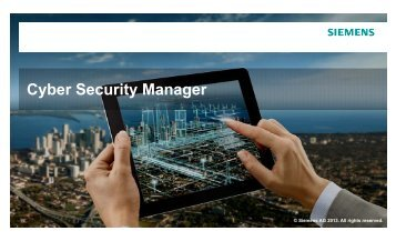 C b S it M Cyber Security Manager - Siemens