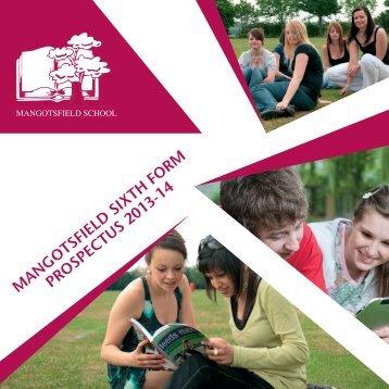 Mangotsfield Sixth Form Prospectus (pdf) - Mangotsfield School