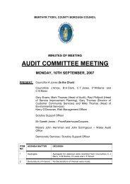 audit committee meeting - Meetings, agendas, and minutes - Merthyr ...