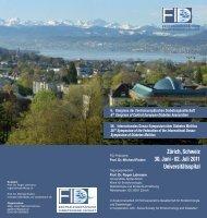 Zürich, Schweiz 30. Juni - 02. Juli 2011 Universitätsspital