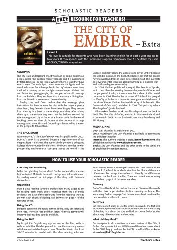 The City of Ember - Scholastic