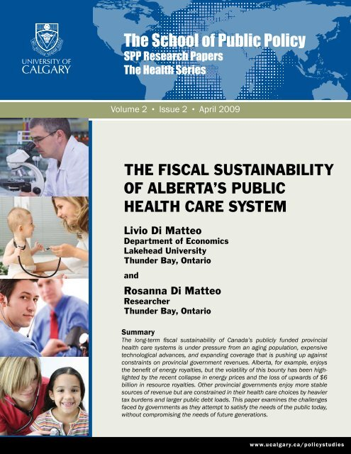 Fiscal Sustainability of Alberta's Public Health Care System