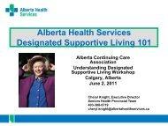 AHS Presentation (Designate Supportive Living 101) - Alberta ...
