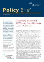 Maximizing the Impact of UN Security Council Resolution 1325: 10 ...