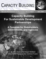 Capacity Building for Partnerships - Earth Summit 2002