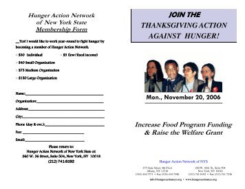 packet - Hunger Action Network in NYS