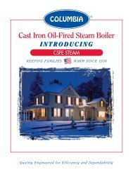 Cast Iron Oil-Fired Steam Boiler - Columbia Heating