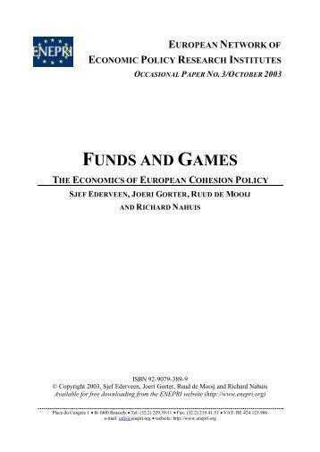 The Economics of European Cohesion Policy - ENEPRI