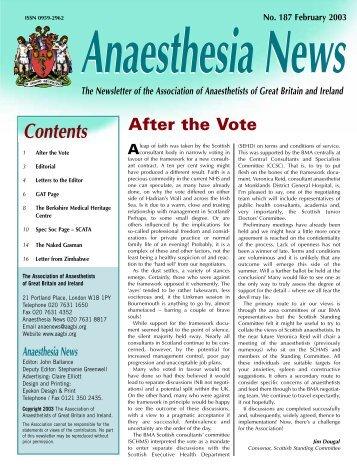 Anaesthesia News - aagbi