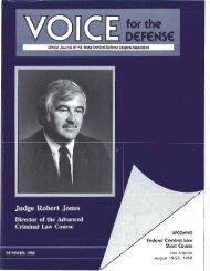 Judge Robert Jones - Voice For The Defense Online