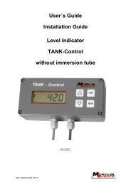User´s Guide Installation Guide Level Indicator ... - Müller Elektronik