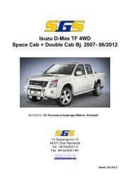 Isuzu D-Max TF 4WD Space Cab + Double Cab Bj. 2007- 06 ... - SGS