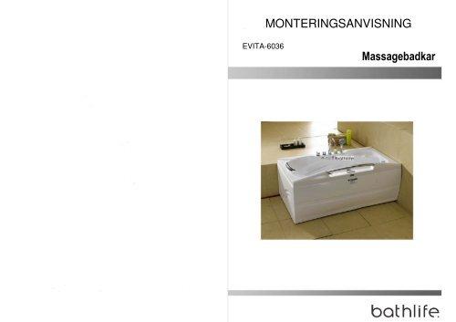 Massagebadkar MONTERINGSANVISNING - Bygghemma