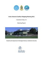 Arctic-Antarctic Seafloor Mapping Meeting 2011 Stockholm ... - NGDC