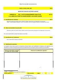 annexe n° de l acte d engagement relative a la mise au point du ...