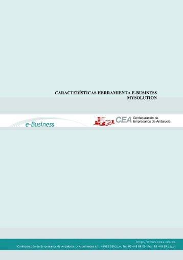 caractrsticas herramientas e-business - Confederación de ...