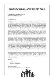 2007 Report Card - Children's Advocacy Institute