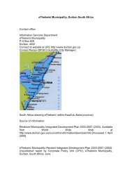 eThekwini Municipality, Durban South Africa Contact office ...