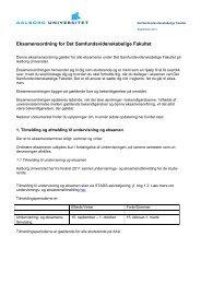 Eksamensordning - Det Samfundsvidenskabelige Fakultet - Aalborg ...