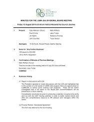 DB Minutes August 2010 - LGMA (SA)
