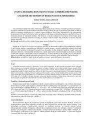 Využití a ekonomika bioplynových stanic v zemědělském ... - SVT