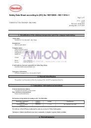 Safety Data Sheet according to (EC) No 1907/2006 - ISO ... - AMI-CON