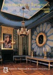 Besuchermagazin 2009 -  Stiftung Thüringer Schlösser und Gärten