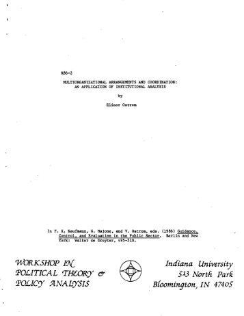 WORKSHOP IN - Indiana University