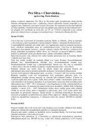 Pro Silva v Chorvátsku - správa zo študijnej cesty od Ing. Pavla ...