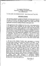 NOTIEICATLON - Department of Health & Family Welfare